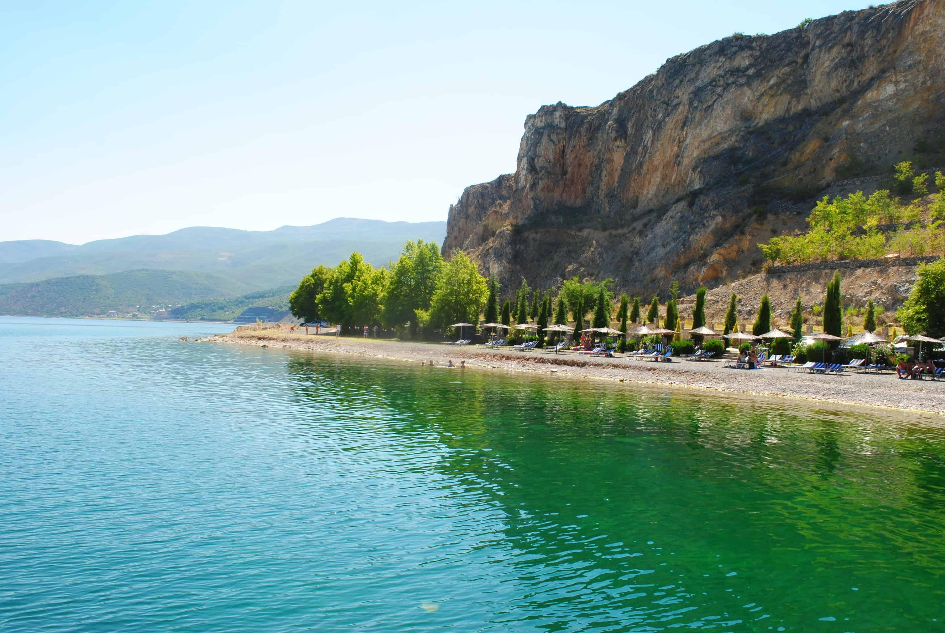 Ufer des Ohridsees | Foto: Schutzgebiet Pogradec – Ohridsee